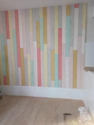 pared lamas madera